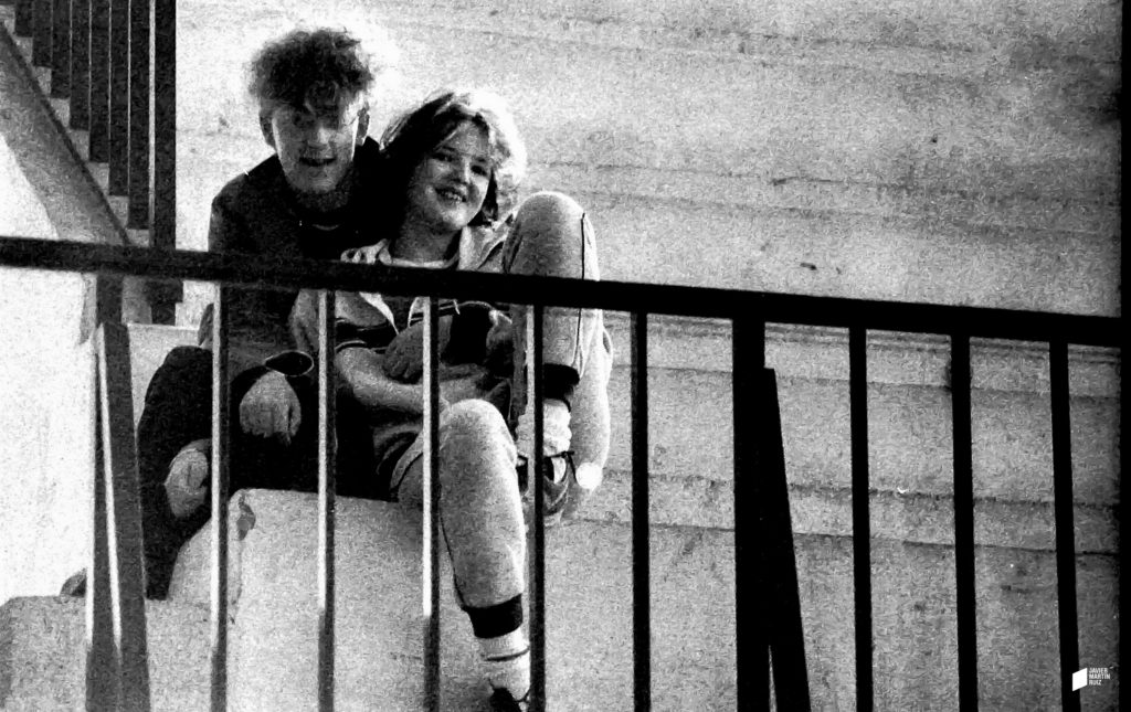 Eric Jiménez y novia 1983